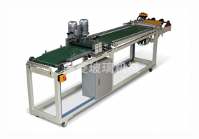 Rolling glass mosaic partitioning and splitting machine